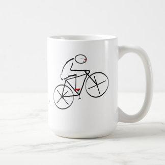 Diseño estilizado del Bicyclist Tazas De Café