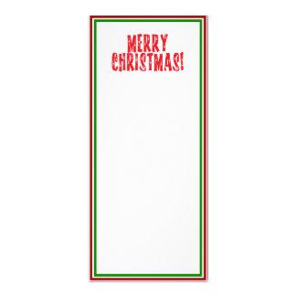 Diseño estrellado del texto de las Felices Navidad Tarjeta Publicitaria A Todo Color