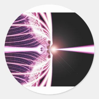 Diseño *Event del arte del fractal de Horizon* Pegatinas Redondas