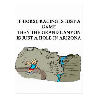 diseño excelente de la carrera de caballos tarjetas postales