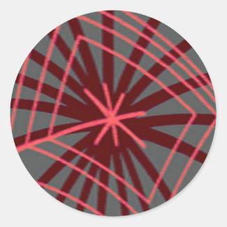 Diseño exótico de Spiderweb del Web de araña Etiqueta Redonda
