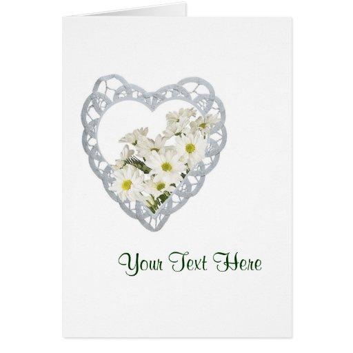 Diseño exquisito de las margaritas blancas tarjeta de felicitación