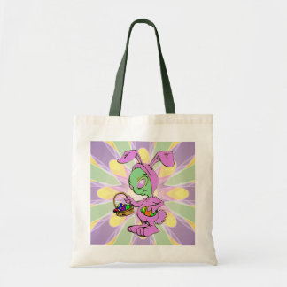 Diseño extranjero del conejito de pascua de la nov bolsa tela barata