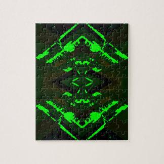 Diseño extranjero verde extraño rompecabezas con fotos