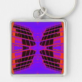 Diseño extremo púrpura anaranjado brillante altame llavero