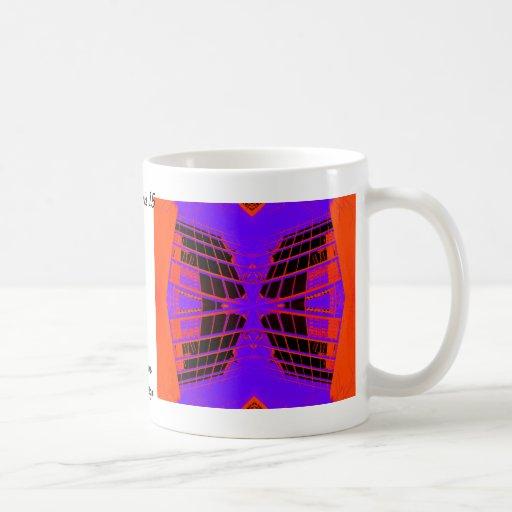 Diseño extremo púrpura anaranjado brillante altame taza de café