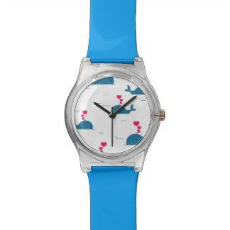 Diseño fabuloso de la ballena azul con los relojes de pulsera