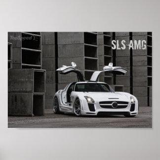 Diseño FABULOSO de Mercedes-Benz SLS AMG Póster