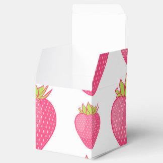 Diseño fabuloso del dibujo animado de la fresa cajas para regalos de fiestas