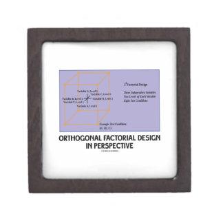 Diseño factorial ortogonal en perspectiva cajas de joyas de calidad