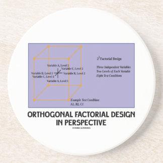 Diseño factorial ortogonal en perspectiva posavasos diseño