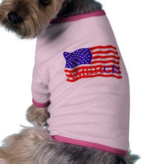 Diseño falso de la bandera de AMER Cia (América) Camisetas De Mascota