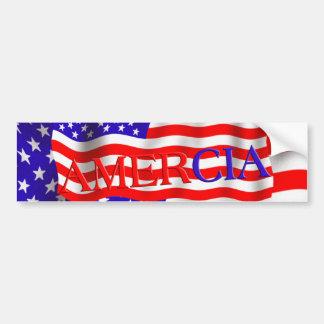 Diseño falso de la bandera de AMERCIA (América) Pegatina De Parachoque