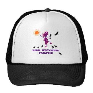 Diseño fanático de la observación de pájaros gorros bordados