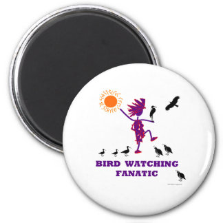 Diseño fanático de la observación de pájaros imanes de nevera