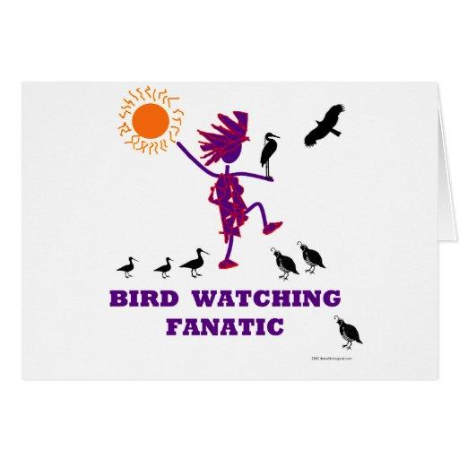 Diseño fanático de la observación de pájaros tarjeta de felicitación