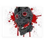 Diseño fantasmagórico con todo torpe del cráneo de tarjetas postales