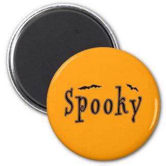 Diseño fantasmagórico de Halloween de los palos Imán Redondo 5 Cm