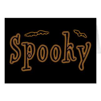 Diseño fantasmagórico de Halloween de los palos Felicitaciones