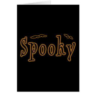Diseño fantasmagórico de Halloween de los palos Tarjeta De Felicitación