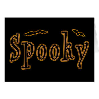 Diseño fantasmagórico de Halloween de los palos Tarjeta Pequeña