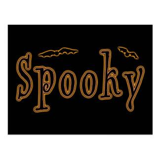 Diseño fantasmagórico de Halloween de los palos Postal