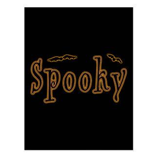 Diseño fantasmagórico de Halloween de los palos Tarjetas Postales