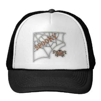 Diseño fantasmagórico de Halloween del Web de arañ Gorros