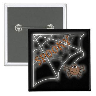 Diseño fantasmagórico de Halloween del Web de arañ Pin