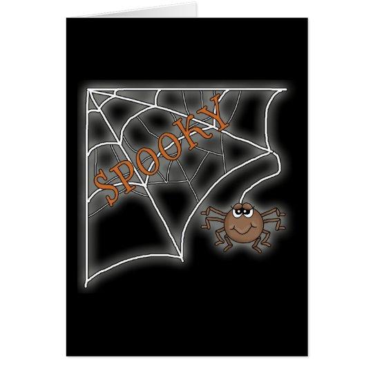 Diseño fantasmagórico de Halloween del Web de arañ Tarjeta De Felicitación