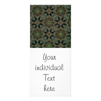 diseño fantástico de la mandala, verde tarjeta publicitaria a todo color