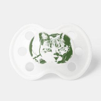 diseño felino posterized gatito del gato blanco chupetes