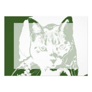 diseño felino posterized gatito del gato blanco comunicado personalizado