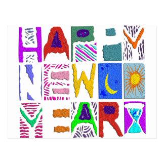 """Diseño """"Feliz Año Nuevo """" del texto Postal"""