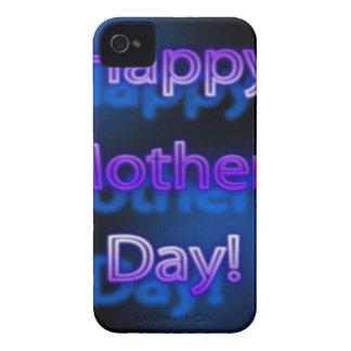 Diseño feliz de color morado oscuro del día de Case-Mate iPhone 4 funda