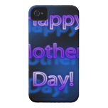 Diseño feliz de color morado oscuro del día de mad iPhone 4 fundas