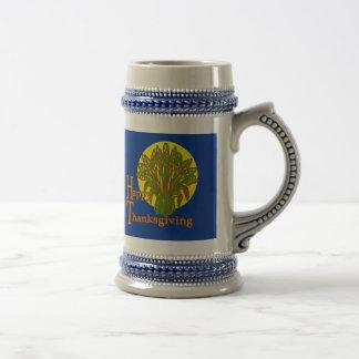 Diseño feliz de la cosecha del otoño de la acción  jarra de cerveza