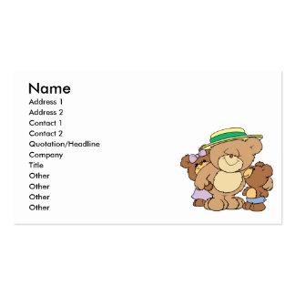 diseño feliz de los osos de peluche del día de tarjetas de visita