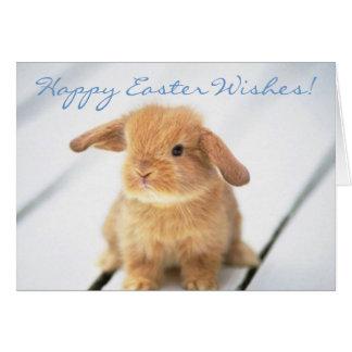 Diseño feliz de Pascua del conejito lindo del bebé Felicitación