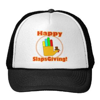 Diseño feliz de Slapsgiving Gorros Bordados