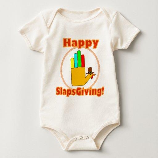 Diseño feliz de Slapsgiving Trajes De Bebé