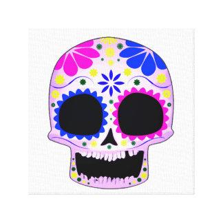 Diseño feliz del cráneo del azúcar impresiones en lona estiradas