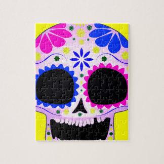Diseño feliz del cráneo del azúcar rompecabeza