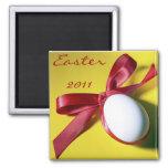 Diseño feliz del huevo de Pascua Imán De Frigorifico