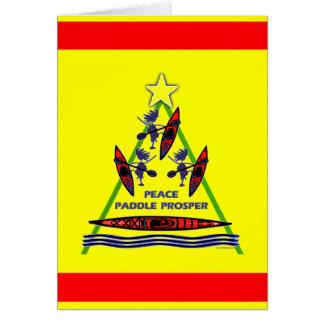 Diseño feliz del kajak de la paleta del día de fie felicitaciones