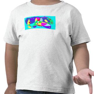 Diseño feliz del monstruo de mar de la camiseta