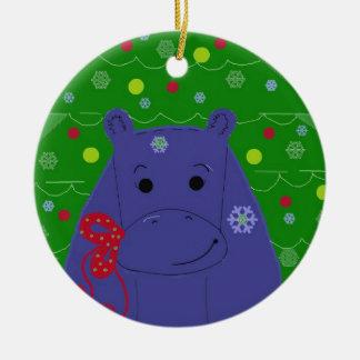 Diseño feliz del navidad del hipopótamo ornamentos para reyes magos