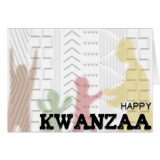 Diseño feliz del paño del fango de Kwanzaa MULTI Tarjeta De Felicitación