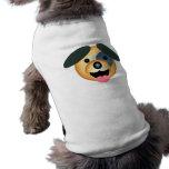 Diseño feliz del perro redondo camiseta de mascota