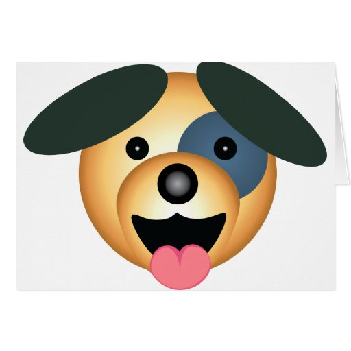 Diseño feliz del perro redondo tarjeta de felicitación
